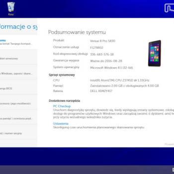 Dell Venue 8 Pro - Info o systemie