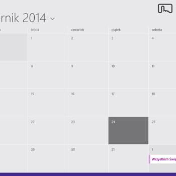 Dell Venue 8 Pro - Kalendarz