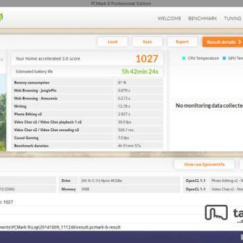 Dell Venue 8 Pro - PCMark - Home - (A)