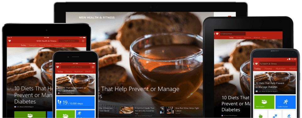 Aplikacje MSN (dawniej Bing) w Play Store i iTunes 15