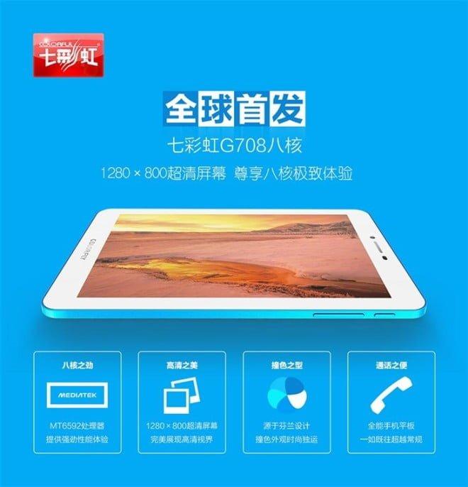 Tabletowo.pl Colorfly G708 - tabletowa ciekawostka z ośmiordzeniowym procesorem i 3G za równowartość 64 dolarów Android Chińskie Tablety