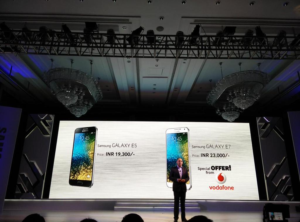 Tabletowo.pl Samsung Galaxy E5 oraz E7 oficjalnie, ale na razie tylko w Indiach Android Nowości Samsung Smartfony