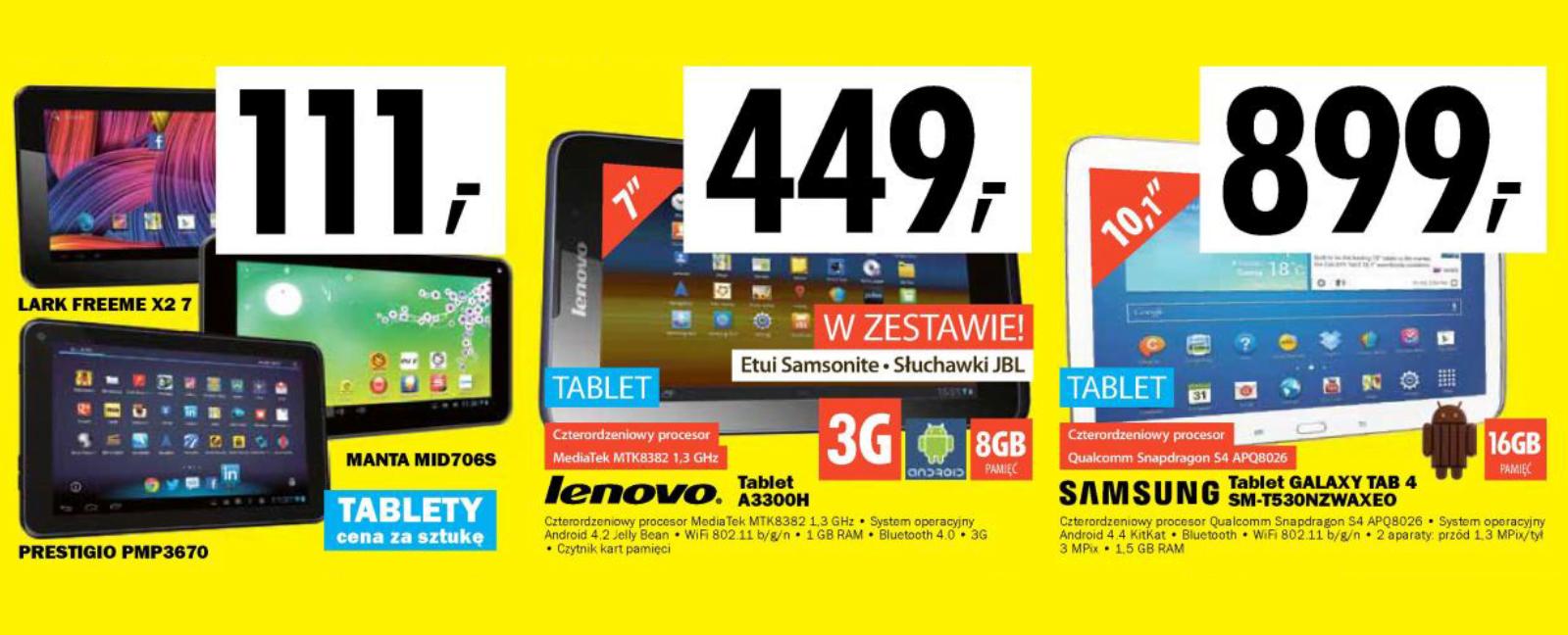 Tabletowo.pl Zestawienie promocji na tablety (09.01 – 15.01) Promocje Tablety Zestawienia