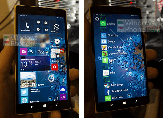 Windows 10 smartfon