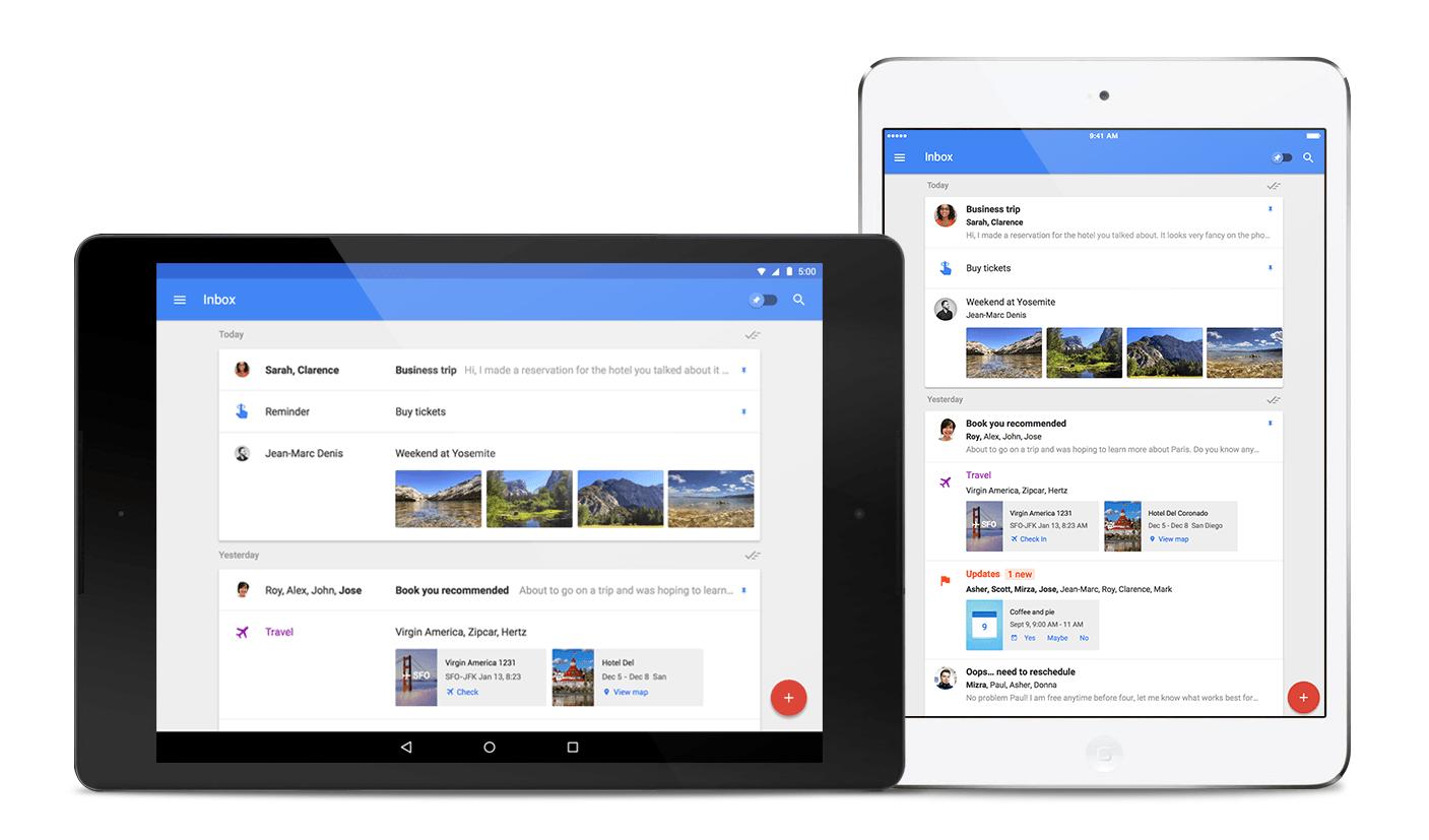 Krótko: Google Inbox wychodzi na iPada, Firefoxa i Safari 26