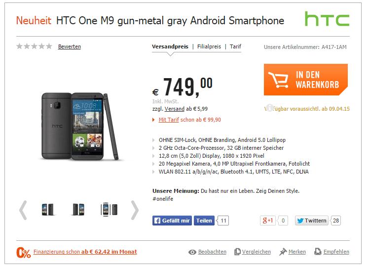 m9 oferta