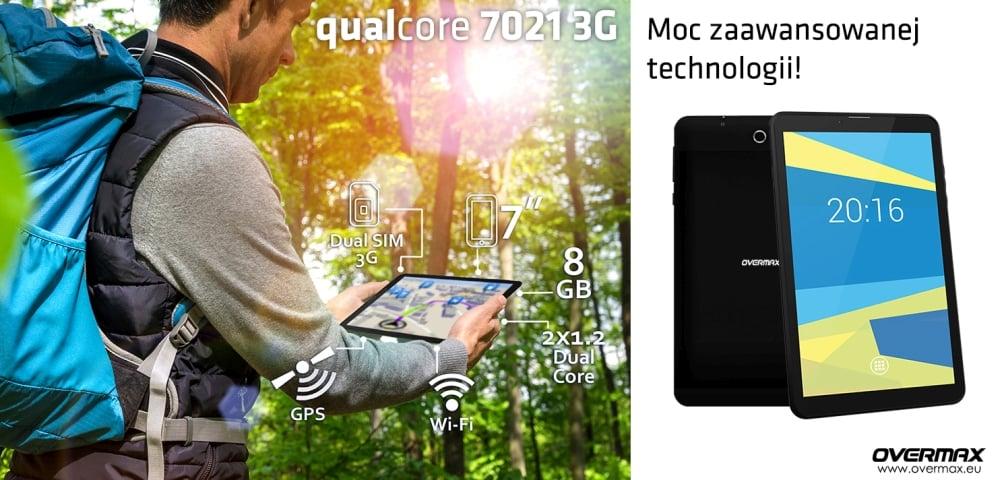 Tabletowo.pl Overmax Qualcore 7021 3G z bogatym zapleczem komunikacyjnym za 300 złotych Android Overmax Tablety