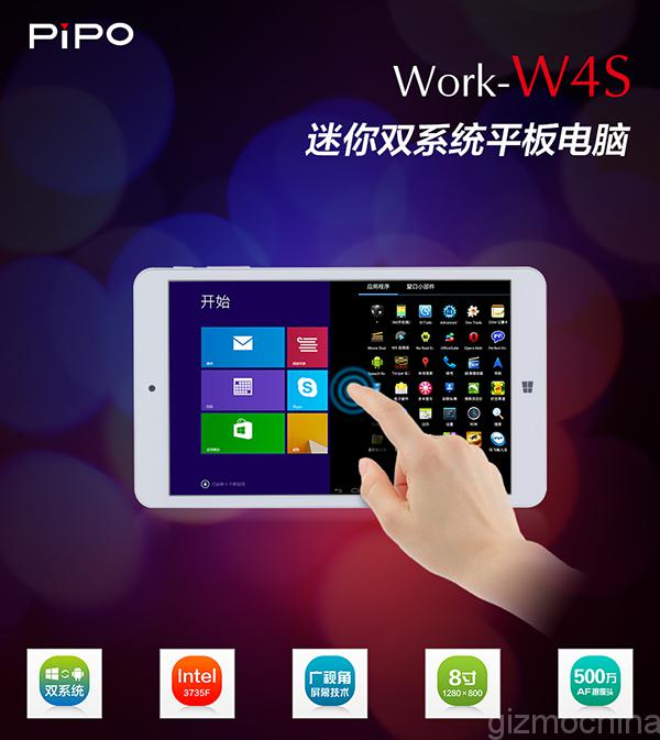 Tablet Dual-Boot PiPO W4S