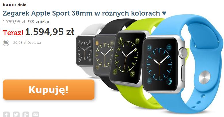 Tabletowo.pl Promocja: Apple Watch w niezłej cenie, ale tylko dziś Apple Promocje Wearable