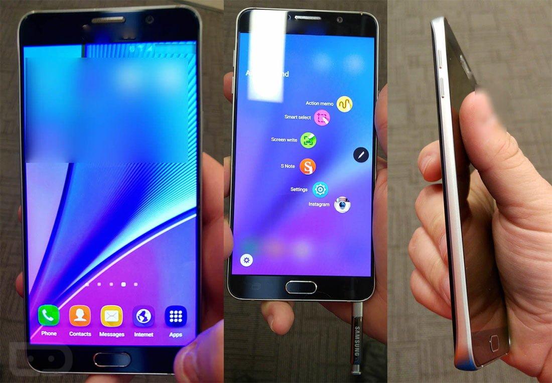 Tabletowo.pl Samsung Galaxy Note 5 na nowych zdjęciach. Ponownie potwierdza się wygląd, znany z Galaxy S6 Android Plotki / Przecieki Samsung Smartfony