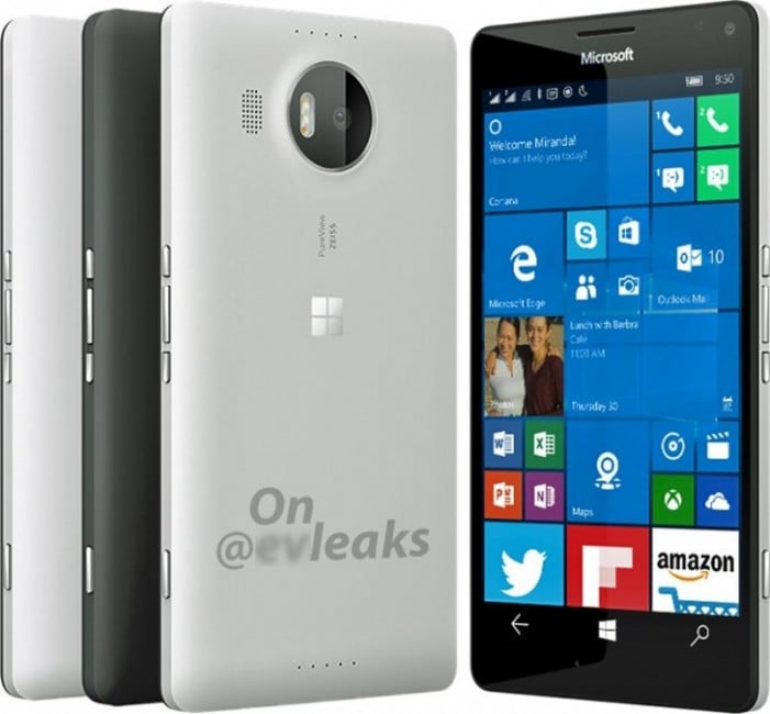 Microsoft Lumia 950 XL render