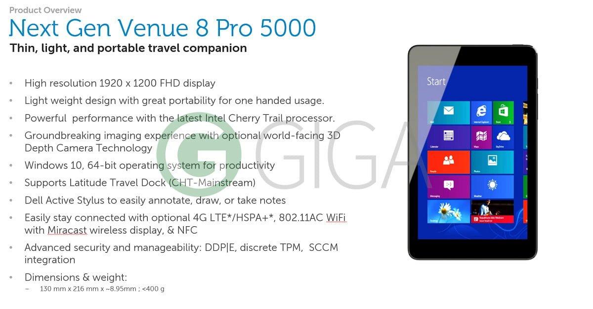 Nowa generacja Dell Venue 8 Pro pojawi się w październiku. Z Intel Atom x5 i RealSense 29
