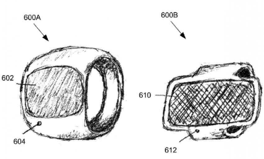 Tabletowo.pl Apple patentuje inteligentny pierścień Apple Wearable