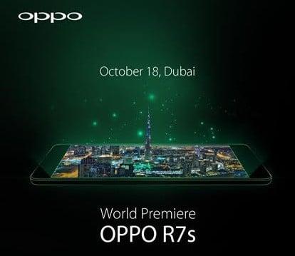 18 października zadebiutuje Oppo R7s 23
