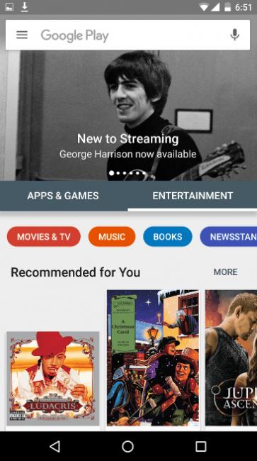 Sklep Google Play aktualizacja 3
