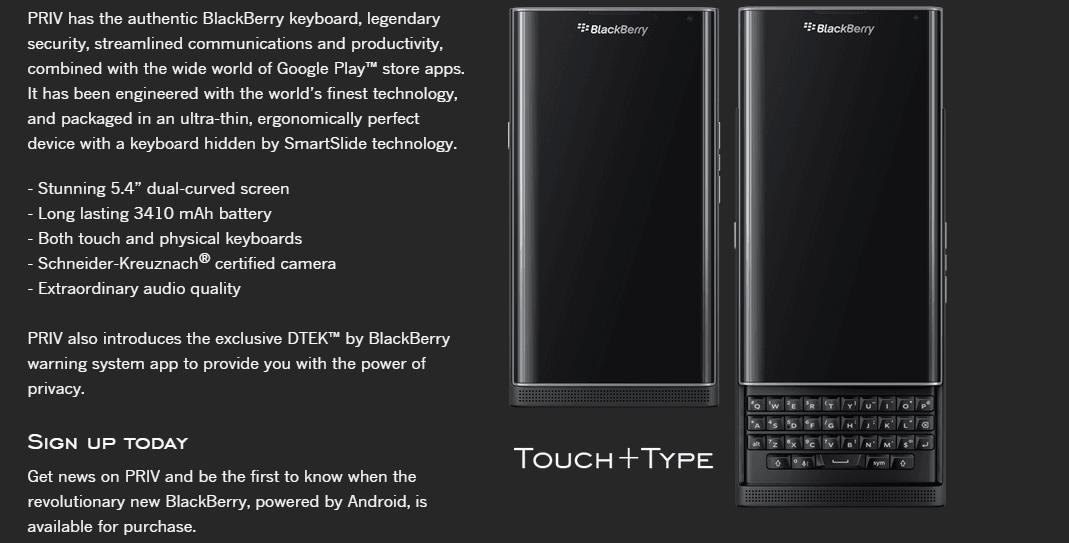 Pierwsze sztuki BlackBerry Priv trafią do klientów 6 listopada, znamy też jego pełną specyfikację 18