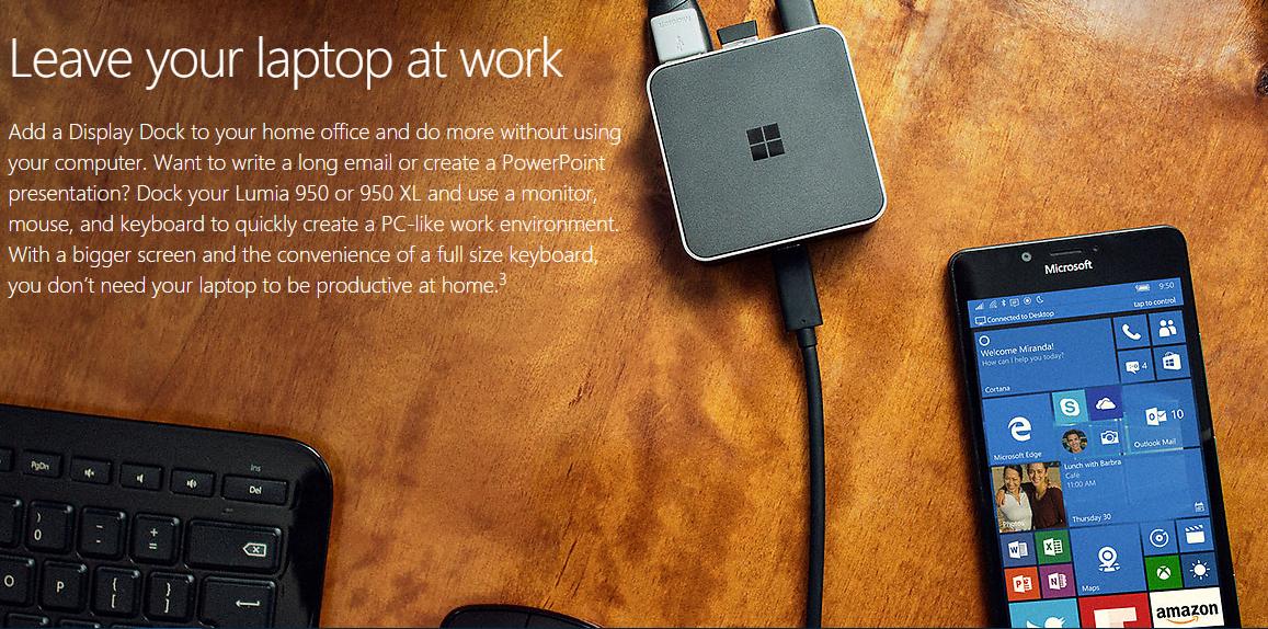 Krótko: Microsoft Display Dock dla Lumii 950 i 950 XL kosztuje 99 dolarów 20