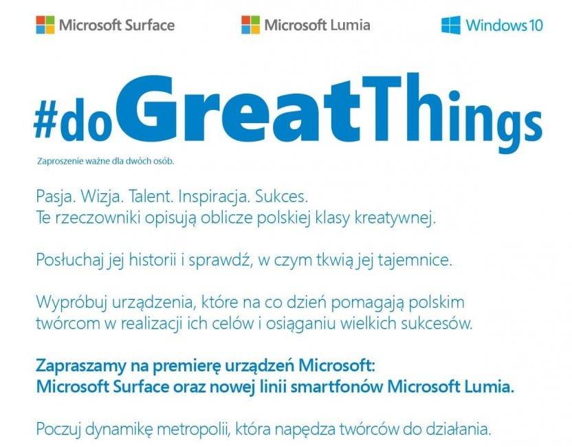 Microsoft event 18 listopada