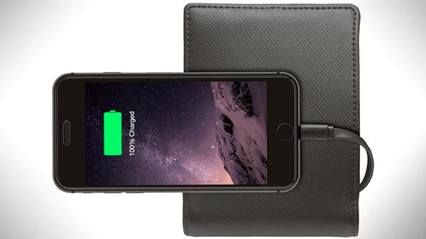 Tabletowo.pl Nomad Wallet - elegancki portfel z powerbankiem 2400 mAh Akcesoria