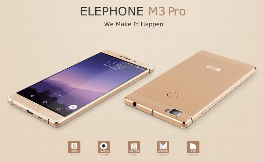 Tabletowo.pl Elephone szykuje nie tylko model M3, ale również jego wersję Pro Android Smartfony