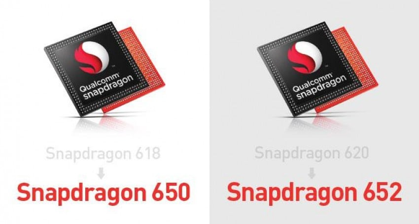 Qualcomm Snapdragon 618 Qualcomm Snapdragon 620 Qualcomm Snapdragon 650 Qualcomm Snapdragon 652