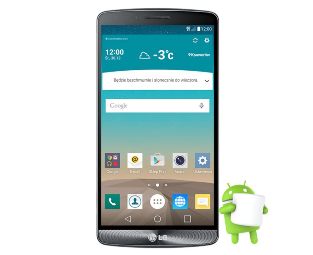 LG znów nas rozpieszcza - Android 6.0 Marshmallow został udostępniony dla LG G3 (w Polsce)!
