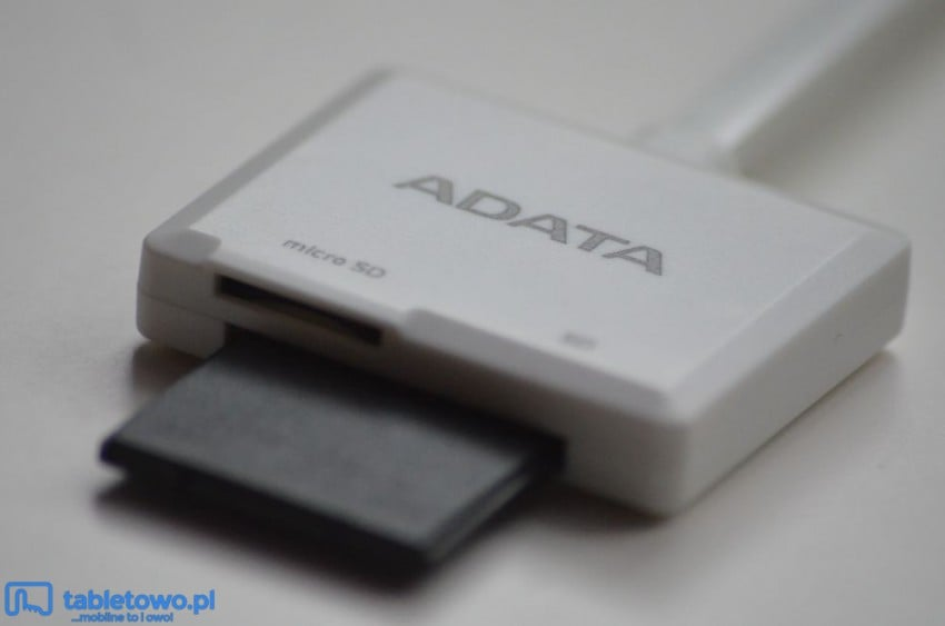 Test czytnika kart microSD i SD do urządzeń z iOS od ADATA