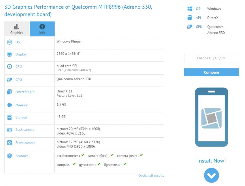 Microsoft Lumia 6 cali