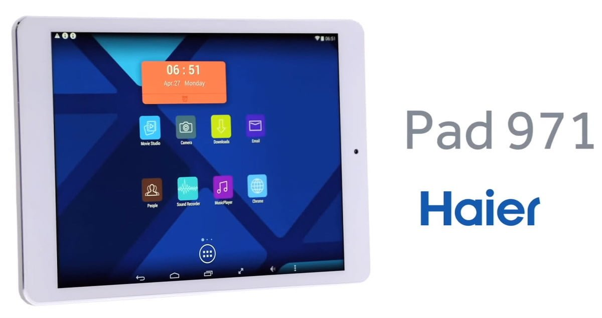 Tabletowo.pl Haier Pad 971. Nowość z... Androidem 4.4? Android Chińskie Tablety