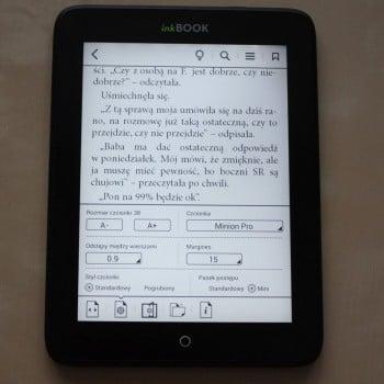 Recenzja czytnika InkBOOK Obsidian 25