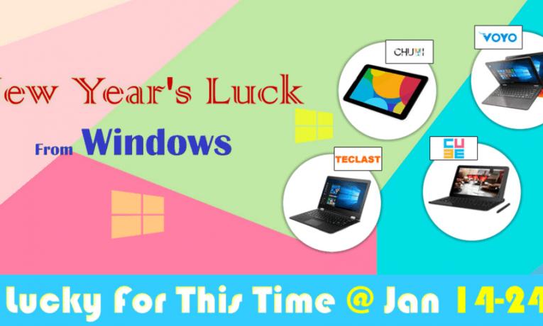 Promocja na tablety i hybrydy z Windowsem firm Teclast, Chuwi, Onda i Voyo