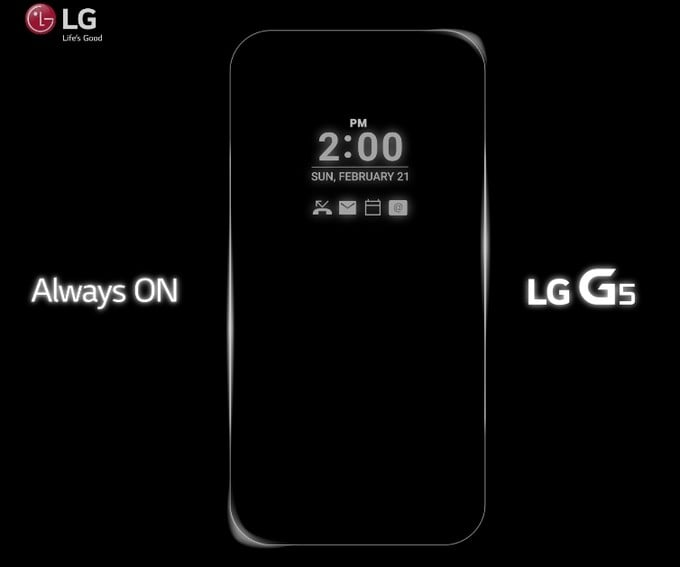 LG G5 Always On