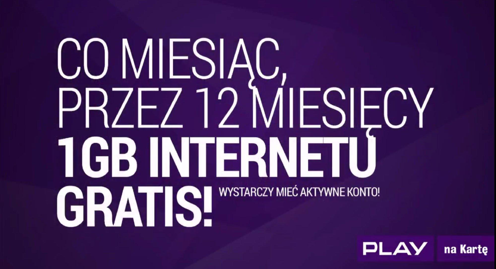 Play na kartę Rok Internetu za darmo 2