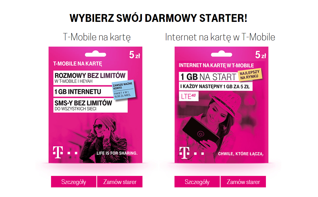 T-Mobile Na Kartę Internet Na Kartę w T-Mobile