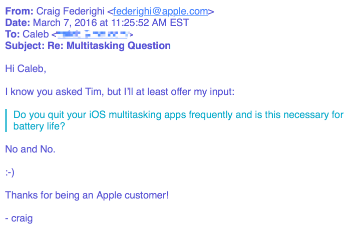 Apple iOS multitasking 2