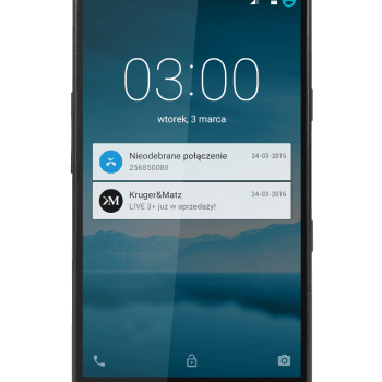 Tabletowo.pl Kruger&Matz Live 3+ z podwójną baterią za 999 złotych Android Kruger&Matz Smartfony