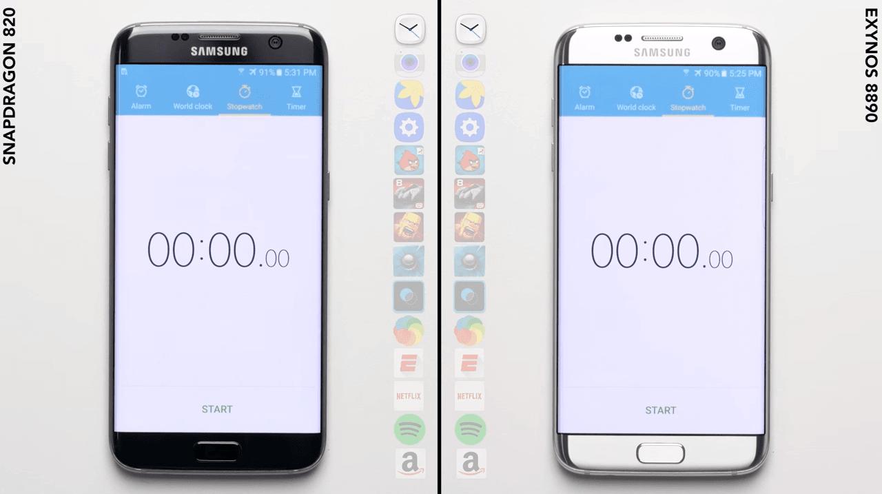 Samsung Galaxy S7 Samsung Galaxy S7 Edge Exynos 8890 Qualcomm Snapdragon 820