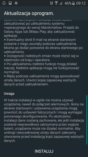 Tabletowo.pl Wreszcie jest! Pojawił się Android Marshmallow dla polskich Galaxy S6/S6 Edge (XEO) Aktualizacje Android Krótko Samsung W skrócie