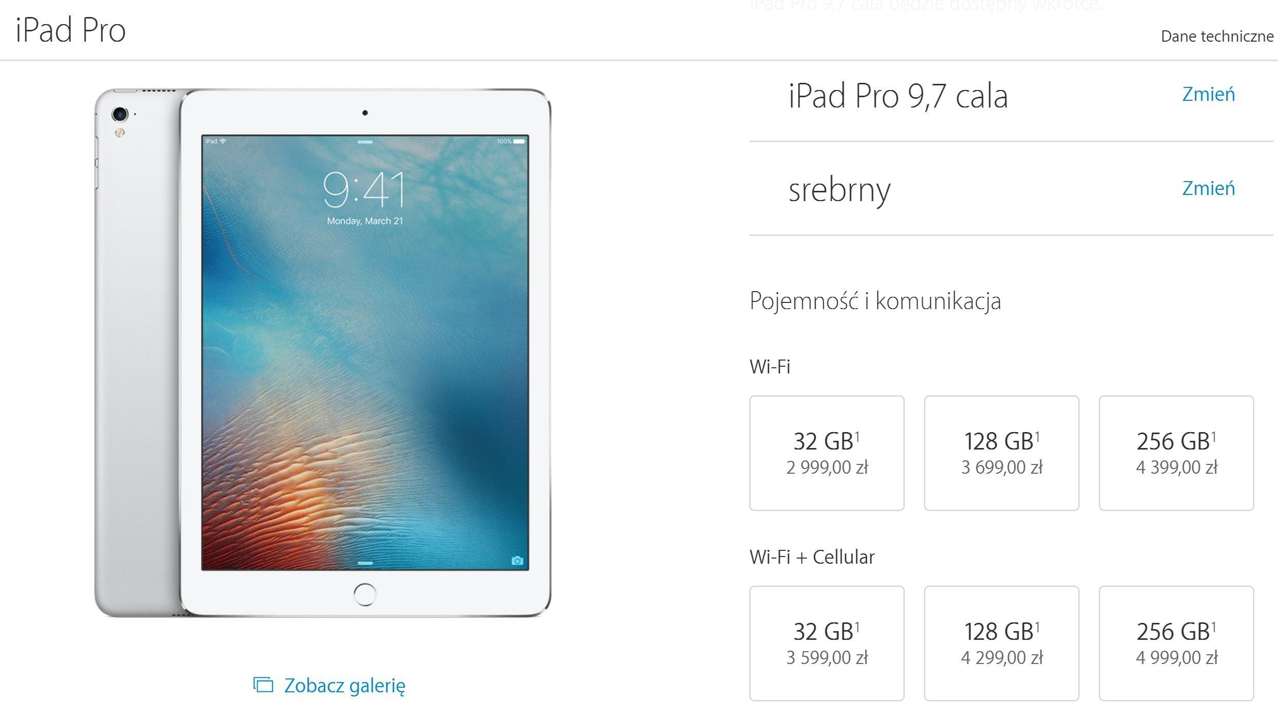 """Tabletowo.pl Polskie ceny iPada Pro 9,7"""" są już znane! Apple iOS Tablety"""