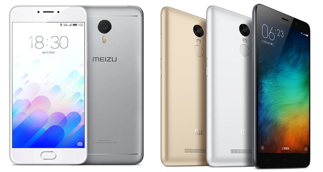 Meizu M3 Note vs Xiaomi Redmi Note 3