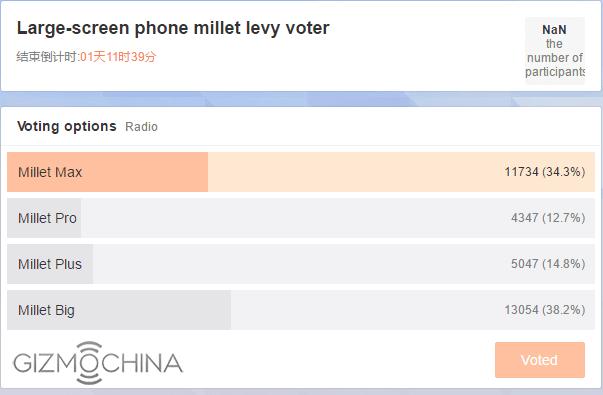 Xiaomi Max Xiaomi Pro Xiaomi Plus Xiaomi Big ankieta poll