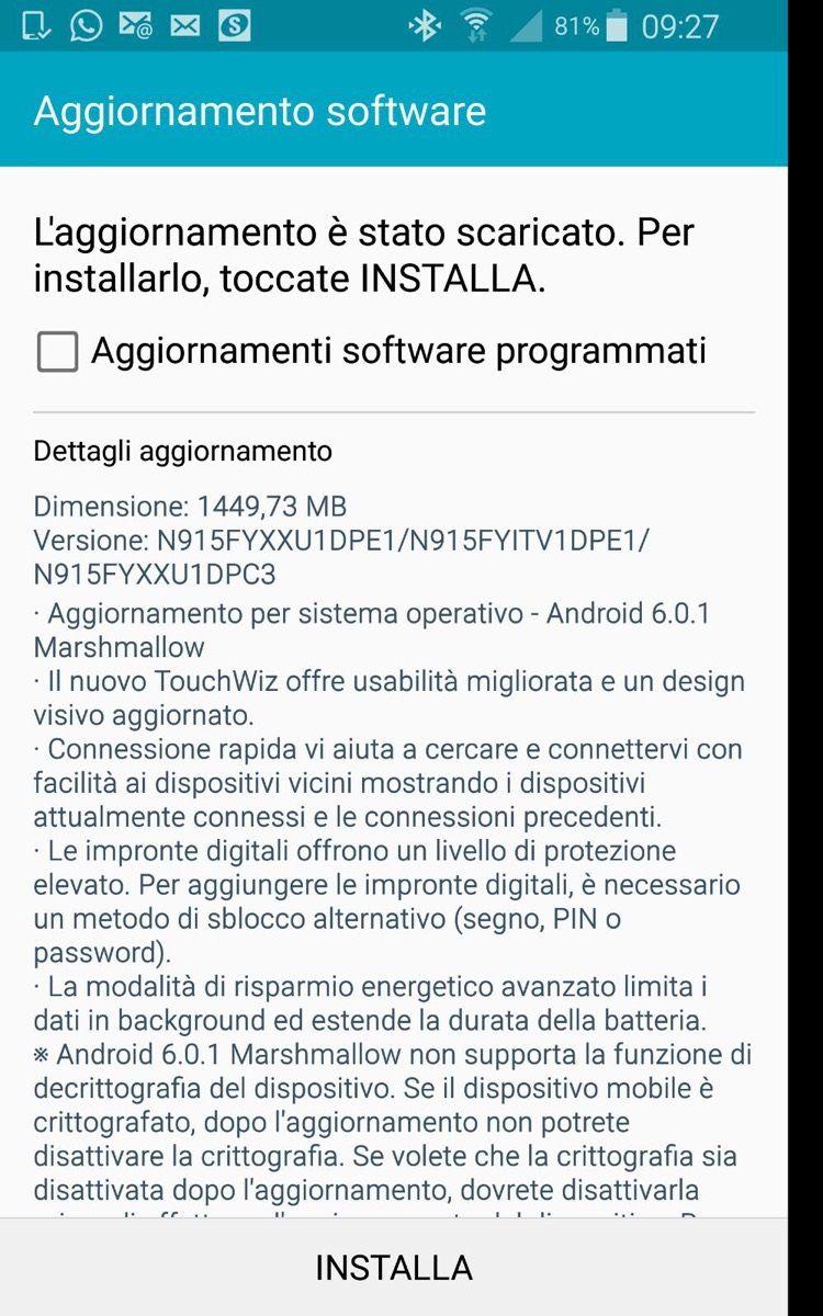 Tabletowo.pl Android 6.0.1 Marshmallow dla Galaxy Note Edge już w Europie (Aktualizacja: W Polsce też) Aktualizacje Android Samsung Smartfony