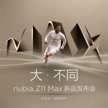Cristiano Ronaldo na plakacie, zapowiadającym premierę Nubii Z11 Max