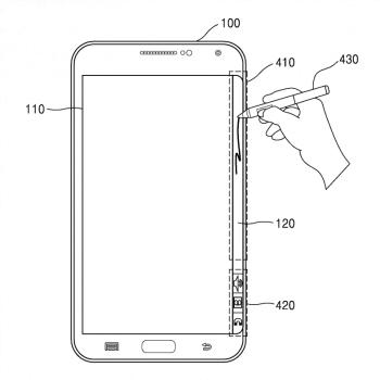 Samsung Galaxy Note Edge patent S-Pen ekran krawędziowy