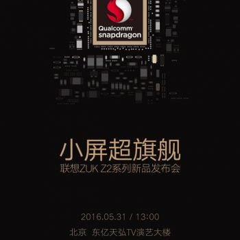 ZUK Z2 z procesorem Qualcomm Snapdragon zadebiutuje 31 maja 21