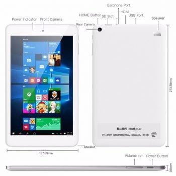 Tabletowo.pl Cube iWork 8 Air - nieźle wyposażony tablet z Dual Boot za... niecałe 100 dolarów Android Chińskie Tablety Windows
