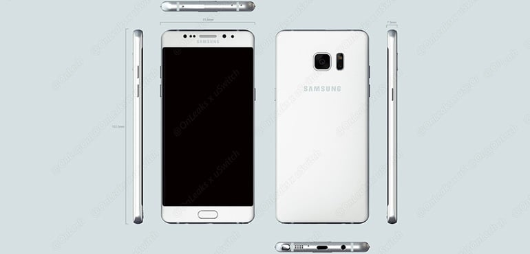 Samsung Galaxy Note 6 Edge Samsung Galaxy Note 7 Edge dimensions wymiary