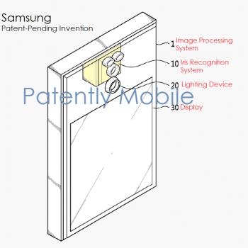 Samsung iris scaner skaner tęczówki oka patent