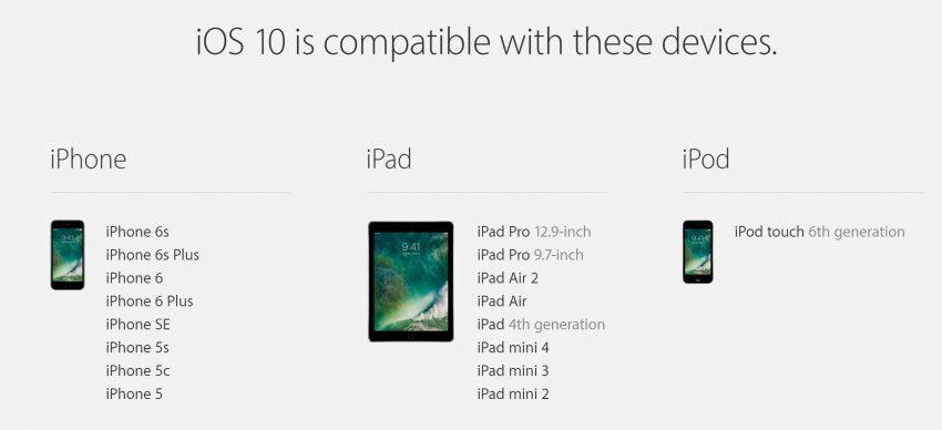 apple-kompatybilność-ios10