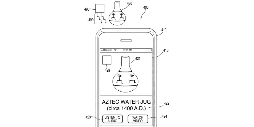 patent podczerwień apple 2